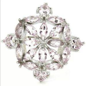 Pink Kunzite, 925 silver Ring